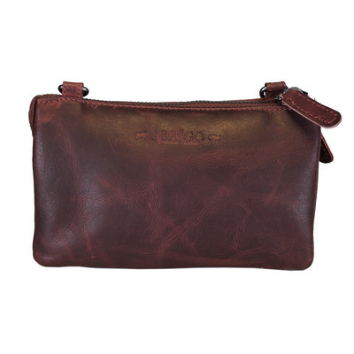 Leather Bag Or Festival Bag Made Of Red Leather