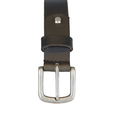 Leather Ladies Belt Made of Black Leather - 3 cm wide