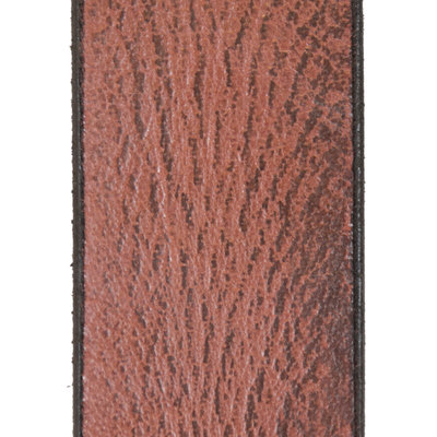 Leather Ladies Belt Made of Burgundy Red Leather - 4 cm wide