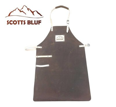 Barbecue apron from Scottsbluf, brown