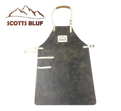 BBQ Schort Scottsbluf zwart/tan used look