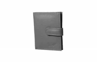 Creditcard houder grijs leer arrigo