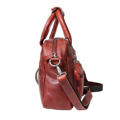 Rundleren westernbag in de kleur rood, medium size
