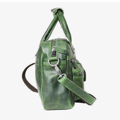 Rundleren westernbag in de kleur groen, medium size