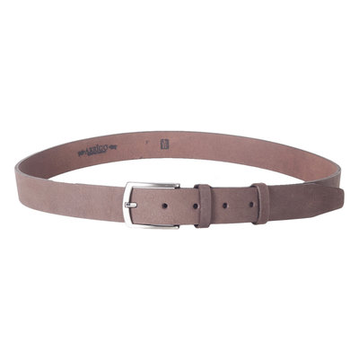 Belt Of 3 cm Wide Made Of Dark Brown Leather