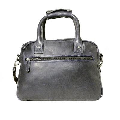 Rundleren westernbag in de kleur donkerblauw, medium size