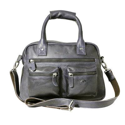 Rundleren medium westernbag, donkerblauw