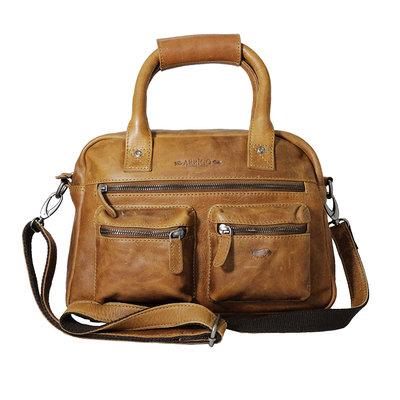 Rundleren medium westernbag, cognac