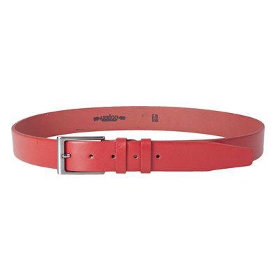 Leren riem, 3.5 cm, rood