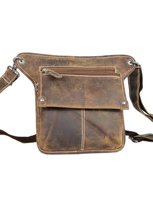 Cognac leather festival/hip bag