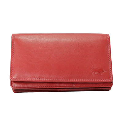 Leather ladies wallet, red large