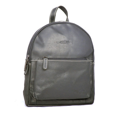 Compact Backpack From Arrigo Made From Black Buffalo Leather
