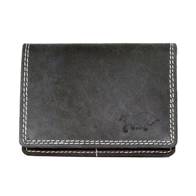 Buffalo wallet, black medium