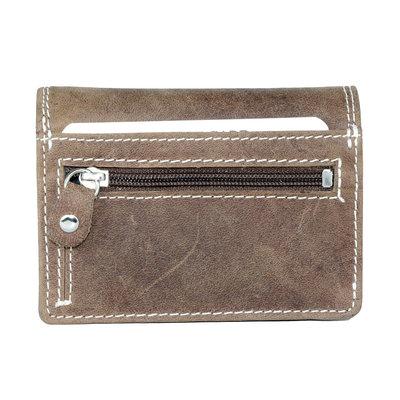 Buffelleren portemonnee met RFID bescherming, cognac