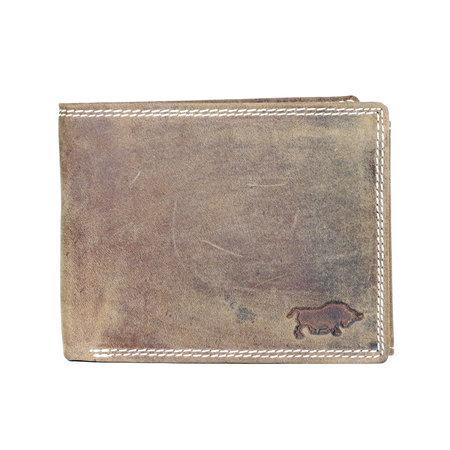 Buffelleren billfold heren portemonnee in de kleur cognac