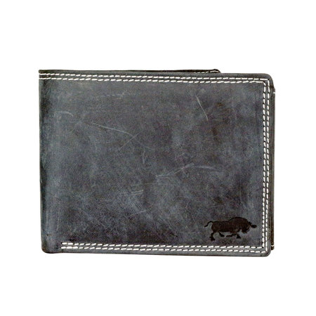 Buffelleren billfold heren portemonnee in de kleur zwart