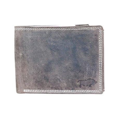 Buffelleren billfold heren portemonnee in de kleur donkerbruin