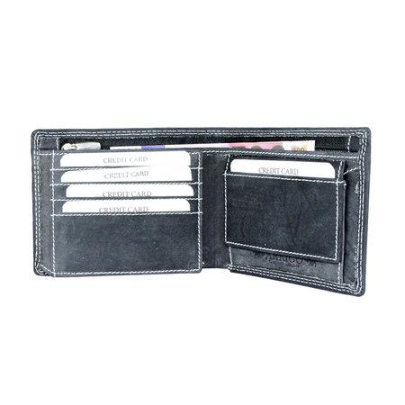 Portemonnee Voor Heren Gemaakt Van Zwart Leer