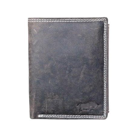 Billfold heren portemonnee van buffelleer in de kleur donkerbruin