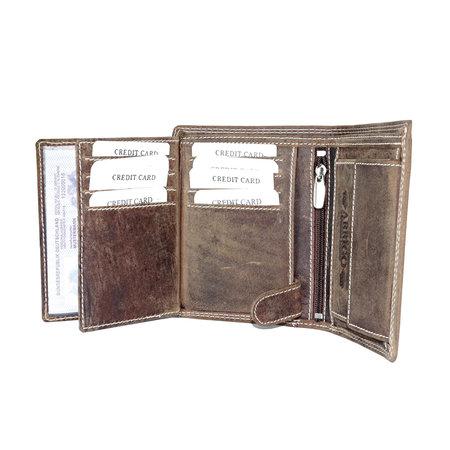 Billfold heren portemonnee van buffelleer in de kleur cognac