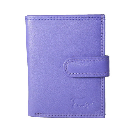 Card holder made of cow leather in the color violet