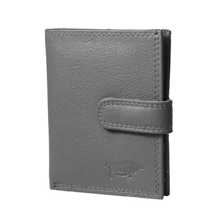 Card holder made of cow leather in the color grey
