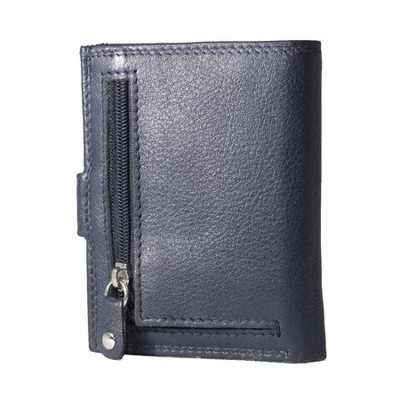 Card holder made of cow leather in the color dark blue
