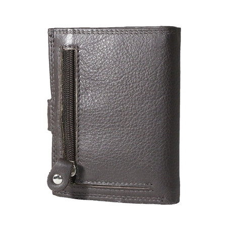 Card holder made of cow leather in the color dark brown