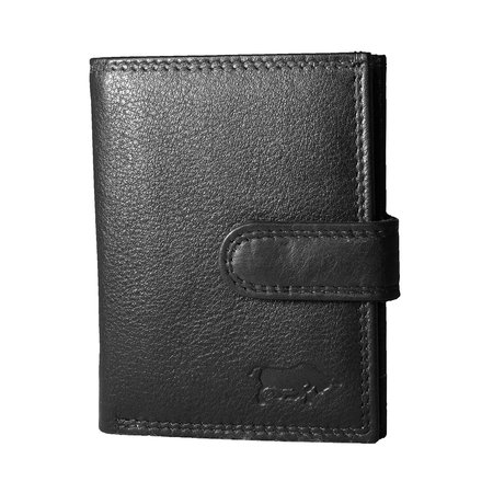Card holder made of cow leather in the color black