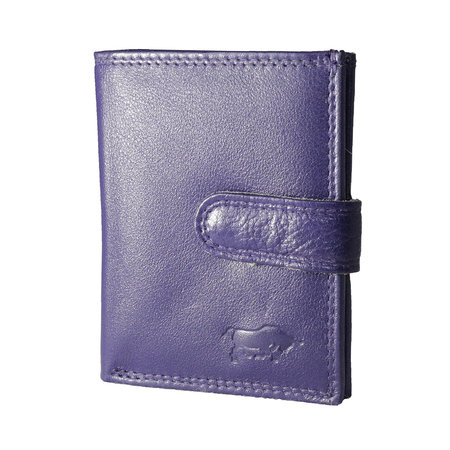 Card holder made of cow leather in the color dark purple