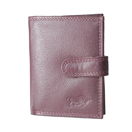 Card holder made of cow leather in the color burgundy red