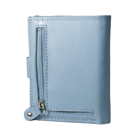 Card holder made of cow leather in the color light blue