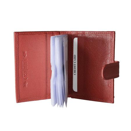 Leren anti skim pasjeshouder mapje in de kleur rood