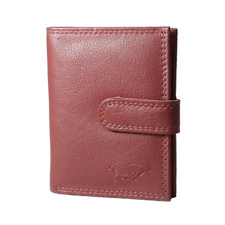 Anti skim card holder in the color dark red