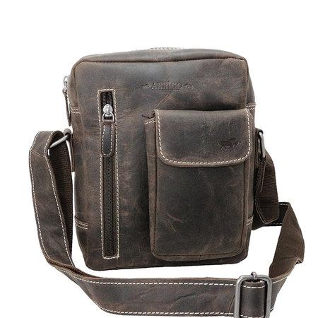 Shoulder Bag Made Of Dark Brown Leather