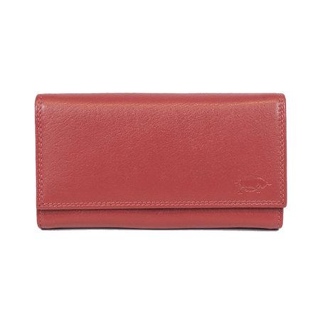 Rode dames portemonnee met klep en knipsluiting