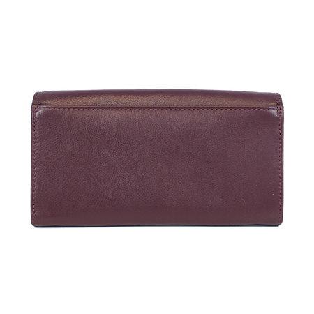 Bordeaux rode dames portemonnee met klep en knipsluiting