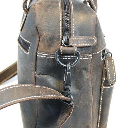 Westernbag Of Schoudertas Van Donkerbruin Leer