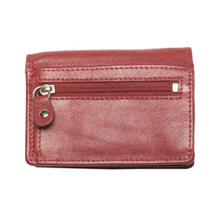 Small Ladies Wallet Made Of Smooth Red Leather