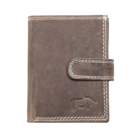 Leather Card Holder Wallet In The Color Cognac