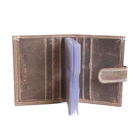 RFID Leather Card Holder In Cognac - Natural