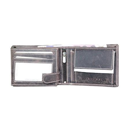 RFID billfold heren portemonnee van buffelleer in de kleur donkerbruin