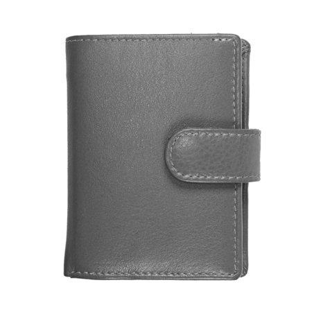 Pasjeshouder met cardprotector van grijs leer
