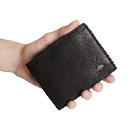 Leren Heren Portemonnee - RFID Model Van Zwart Leer