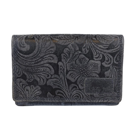 Purse For Ladies Of Dark Blue Leather
