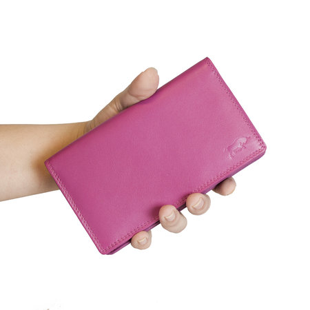 Ladies Wallet - Card Holder Made Of Pink Leather