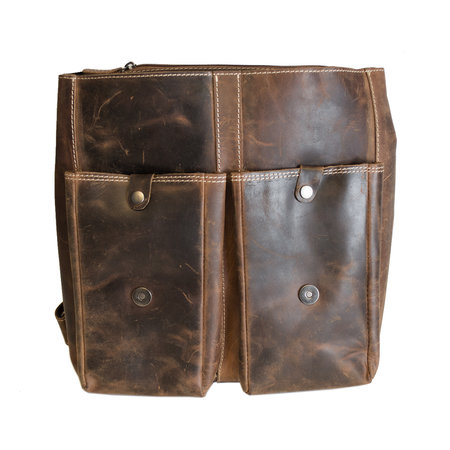 Spacious Backpack Made of Trendy Cognac Colored Leather