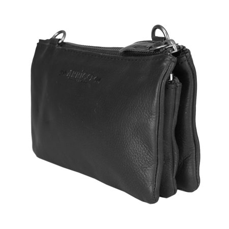Black Leather Ladies Bag Or Shoulder Bag Of Genuine Leather
