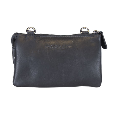 Leather Bag Or Festival Bag Made Of Dark Blue Leather
