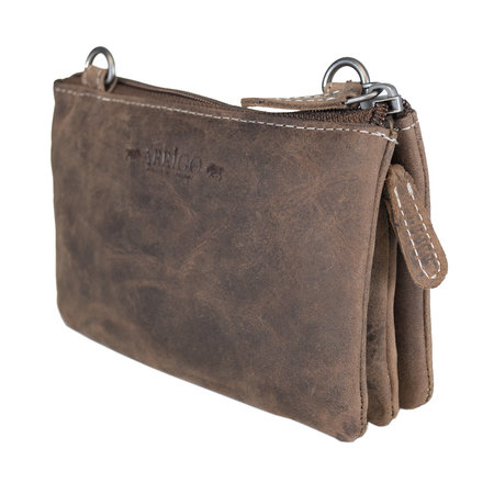 Festival Bag - Leather Purse Bag In Cognac Color
